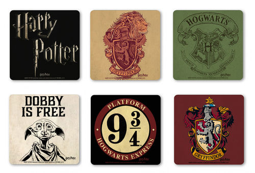 Harry Potter Coaster Untersetzer Set 6 tlg