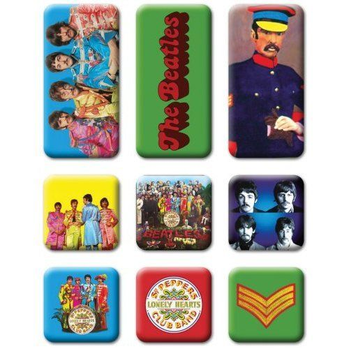 The Beatles Sgt Pepper Magnet Set 9 tlg