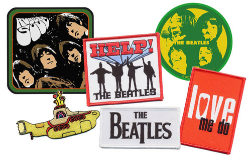 The Beatles Patch Aufnäher Iron On 6 Motive Auswählbar