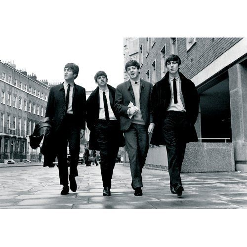 The Beatles Postkarte Karte Walking In London