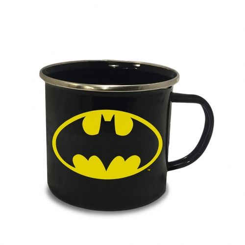 DC Comics Emaille Becher Tasse Batman Logo