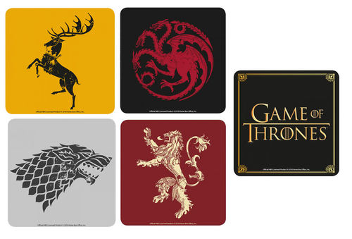 Game Of Thrones Coaster Untersetzer Set 5 tlg