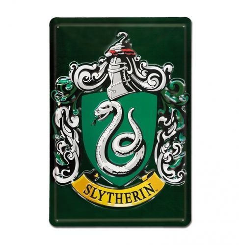 Harry Potter Blechschild A5 Slytherin Wappen