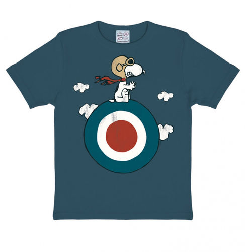 The Peanuts Kinder T-Shirt Snoopy Target blau