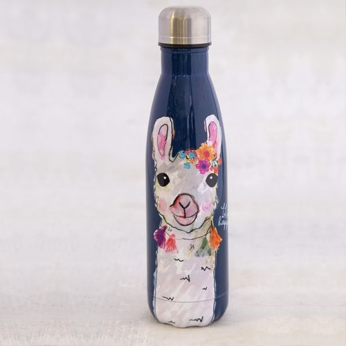 Thermosflasche Traveler Bottle Trinkflasche Floral Lama