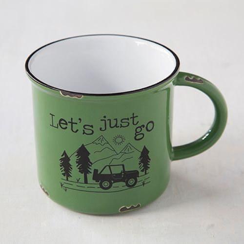 Retro Camping Tasse Becher Lets just go