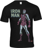 Marvel IRON MAN Retro Comic T-Shirt Black