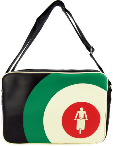 Skyline Tasche Retro Bag Rollermotiv im Querformat