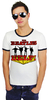 LOGOSH!RT Retro Herren Slim Fit RINGER T-Shirt HELP!