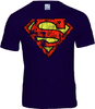 LOGOSH!RT SUPERMAN Retro Herren T-Shirt DESTROY LOGO