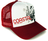 COASTAL Trucker Cap Basecap SURF & CARS & CHICKS Rot