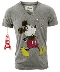 Relaunch Mickey Mouse Herren Retro V-Neck T Shirt
