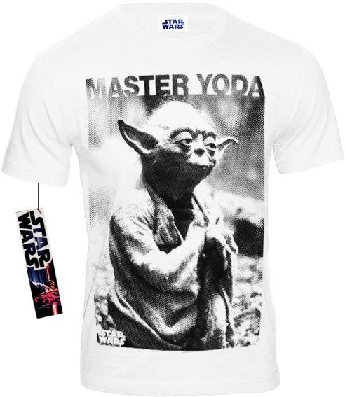 STAR WARS Herren T-Shirt MASTER YODA PHOTO Weiß