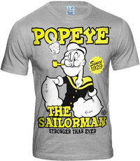 LOGOSH!RT Retro Herren T-Shirt POPEYE THE SAILORMAN