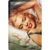 Marilyn Monroe Blechschild Portrait Bed 20x30 cm