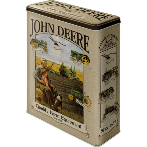 Retro John Deree Grandfather Blechdose XL