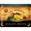 Retro Blechschild Werbeschild Quality Fruits 30x40cm