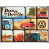 VW Bus & Beetle Surf Beach Magnet Set 9tlg.