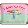 Fairy Cakes Fresh every Day Blechschild/Wandschild 15x20cm