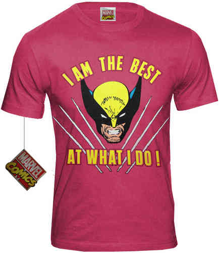 WOLVERINE Herren Retro T-Shirt I AM THE BEST AT WHAT I DO
