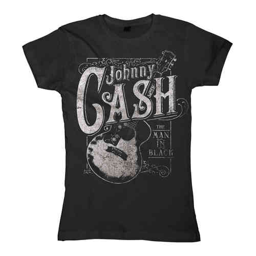 original Johnny Cash Girl T-Shirt CASH GUITAR
