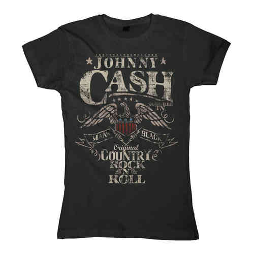 original Johnny Cash Frauen T-Shirt COUNTRY ROCK N ROLL