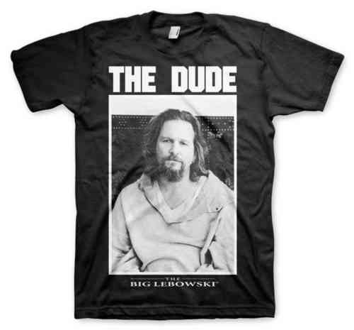 The Big Lebowski Herren T-Shirt THE DUDE PHOTO schwarz