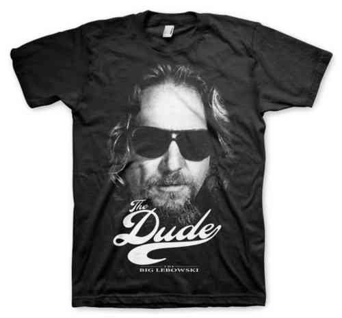 The Big Lebowski Herren T-Shirt THE DUDE FACE schwarz