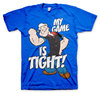 Popeye Herren Retro T-Shirt MY GAME IS TIGHT blau