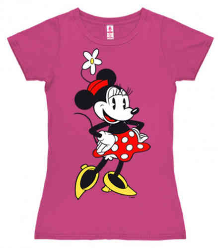 original DISNEY Frauen T-Shirt MINNIE MOUSE pink
