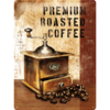 50er 60er Retro ROASTED COFFEE Blechschild 30x40cm