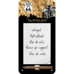 Retro ROUTE 66 Notizblock Blechschild MAP