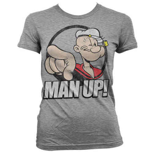 POPEYE Der Seemann Girl Frauen T-Shirt Man Up!