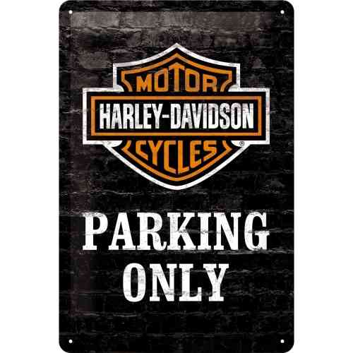 Harley Davidson Parking Only Blechschild 20x30 cm