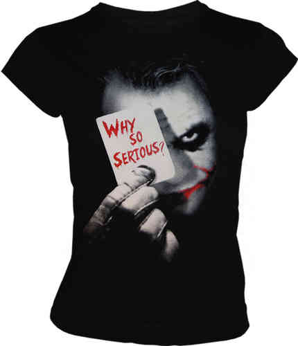 DC Comics Joker Face Frauen T-Shirt Why So Serious