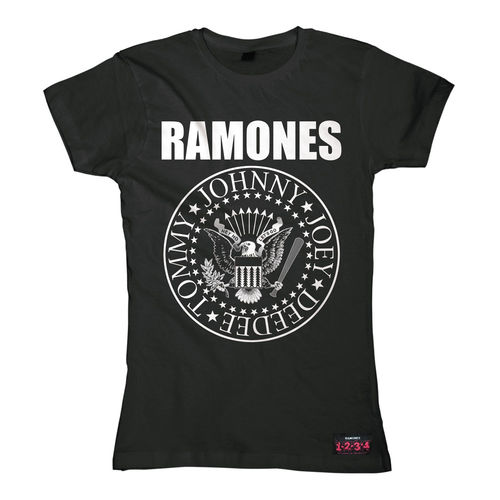 Ramones Girl T-Shirt Seal Logo