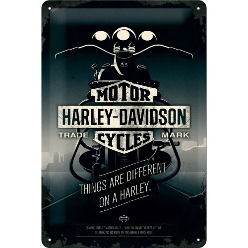 Harley Davidson Things Are Different Blechschild 20x30cm