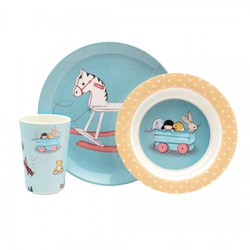 Belle & Boo Kinder Melamin Geschirr Set 6tlg Toy Box