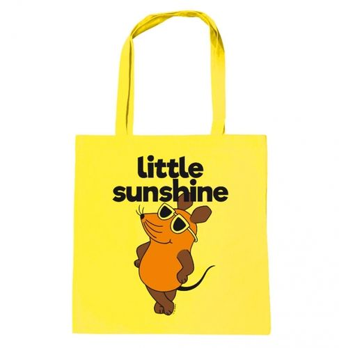 Maus Stoffbeutel Tasche Cotton Bag Little Sunshine gelb