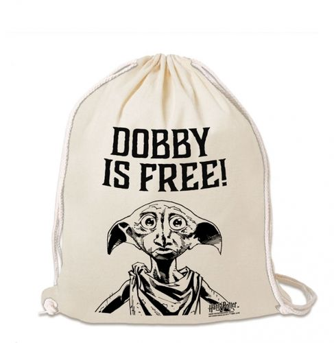 Harry Potter Turnbeutel Baumwoll Rucksack Dobby Is Free