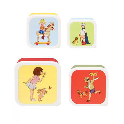 Belle & Boo Brotdose Lunchbox Snack Tubs 4er Set