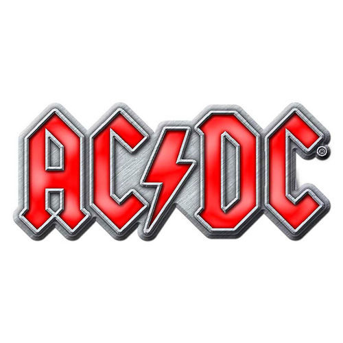 ACDC Pin Badge Anstecker AC/DC Red Logo