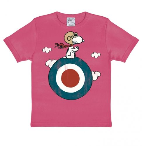 The Peanuts Kinder T-Shirt Snoopy Target pink