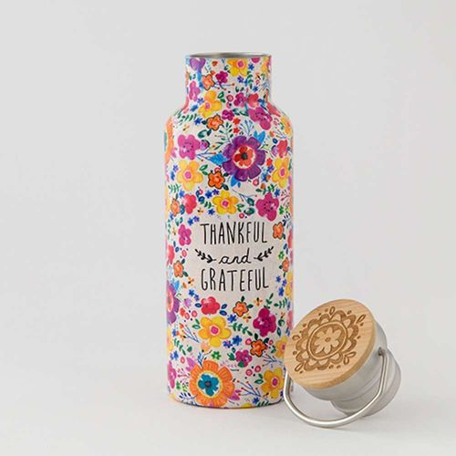 Thermosflasche Traveler Bottle Trinkflasche Thankful