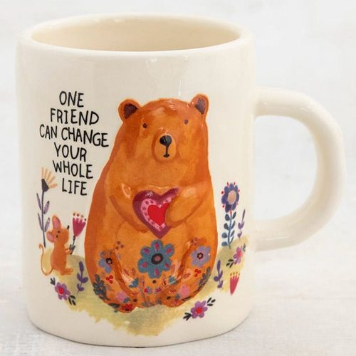 Natural Life Tasse Kaffeetasse Embossed Bear One Friend