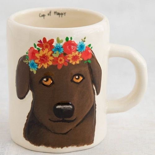 Floral Kaffeetasse Tasse Cup of Happy Chocolat Dog