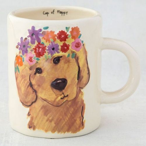 Floral Kaffeetasse Tasse Cup of Happy Dog