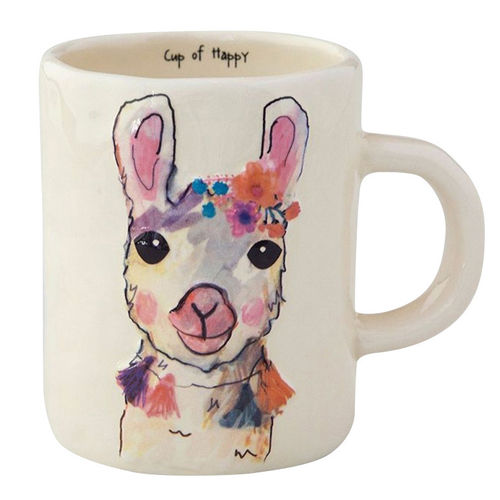 Floral Kaffeetasse Tasse Cup of Happy Lama