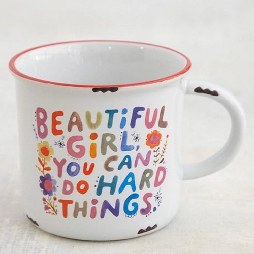 Natural Life Camping Tasse Becher Beautiful Girl