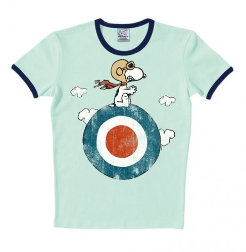 The Peanuts Herren T-Shirt Snoopy Target Ringer